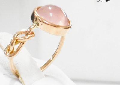 Gioiello per lei - Anelli in oro rosa con Quarzo rosa