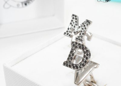 Gioiello per lui - Gemelli con pavé di diamanti neri