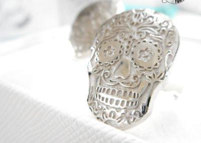 Gioiello per lui - Gemelli in argento a tema Teschio messicano