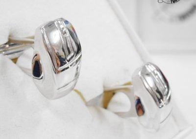 Gioiello per lui - Gemelli in argento forma Mouse