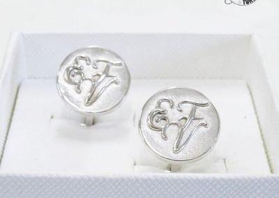 Gioiello per lui - Gemelli in argento iniziali personalizzate