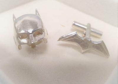 Gioiello per lui - Gemelli in argento smaltato a tema Batman