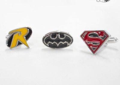 Gioiello per lui - Gemelli in argento smaltato a tema Supereroi