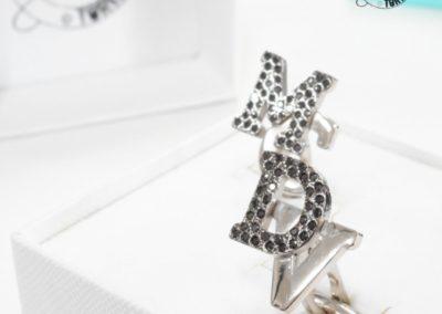 Idee regalo per i Testimoni - Gemelli con pavé di diamanti neri